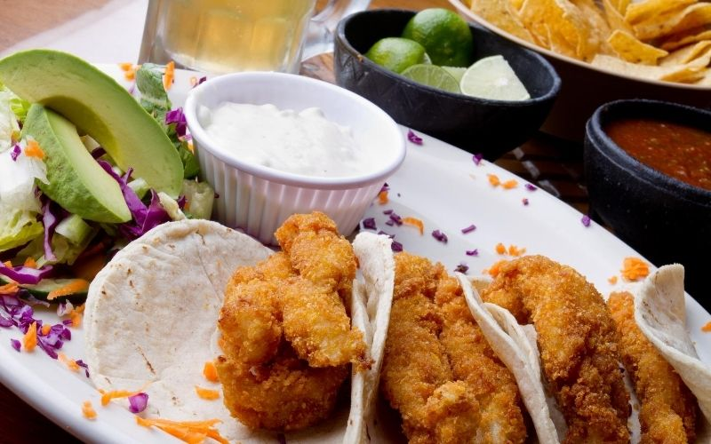 Fried fish tacos.