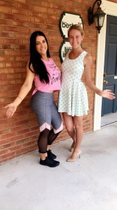 (L-R) Maggie and Wyndi show off their summer glow! Opulence's summer package allows you to buy five spray tans and get one for free!