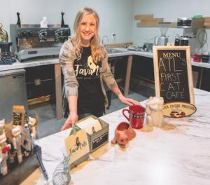 Hayden Owner of Cat Cafe in Cafe