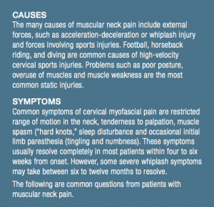 Causes and Symptoms of Neck Pain