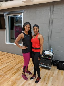 (L to R) Best Self staffer Alex McCray and instructor Renae Murphy
