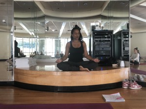 Instructor Shalondra Dahunsi enjoys a moment of reflection.