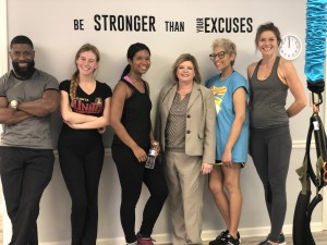 Instructor Terrance Hutchinson, Best Self staffer Wyndi Kappes, associate editor Alex McCray, owner Christal McNair, managing editor Laura Downey, instructor Aleksandra Kazmierczak