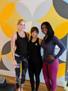 (L to R) Caroline Simpson, owner Melissa Lopez, Alex McCray
