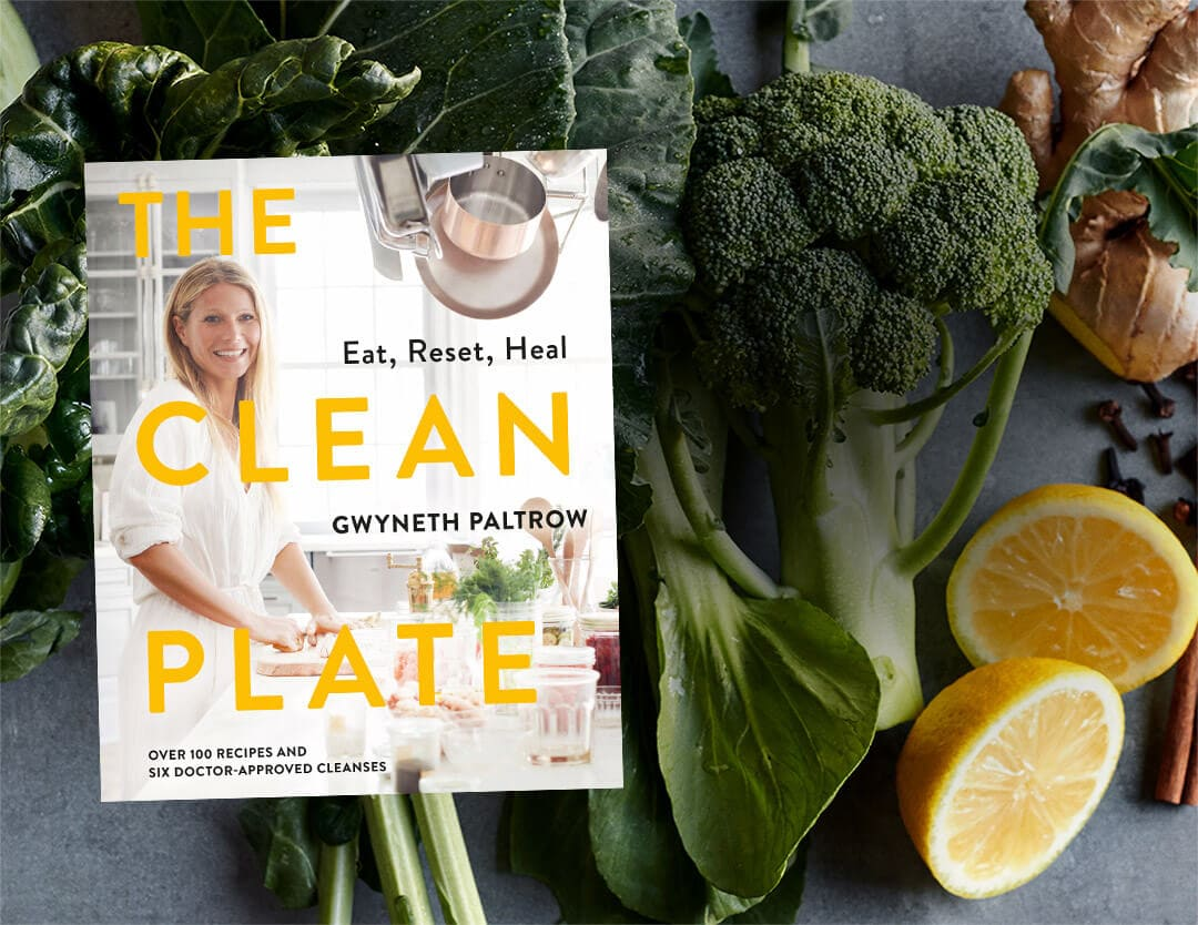 "The cover of Gweneth Paltrow's book, ""The Clean Plate""."