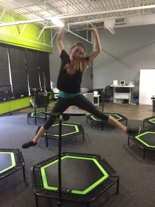 Best Self Staffer Wyndi Kappes mid jump!