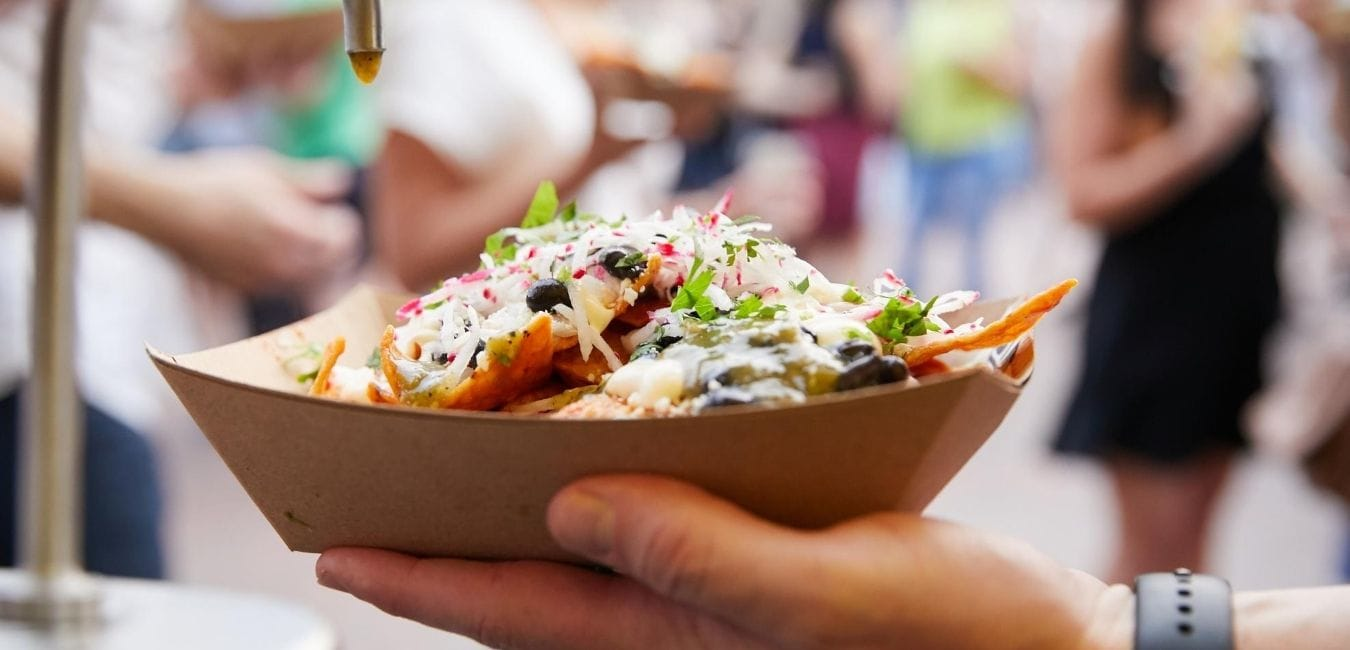 Nachos at a food festival.