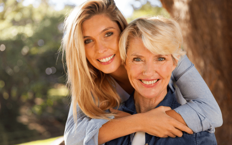 Aging daughter and mother