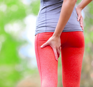 A person experiencing Sciatica pains