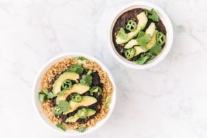 Healthy bowls from Cafe West Express