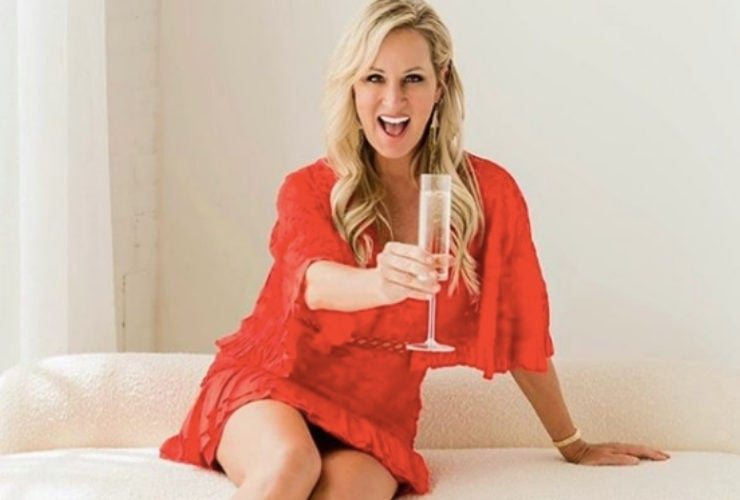 Dr. Karin Luise Cheersing in a red dress
