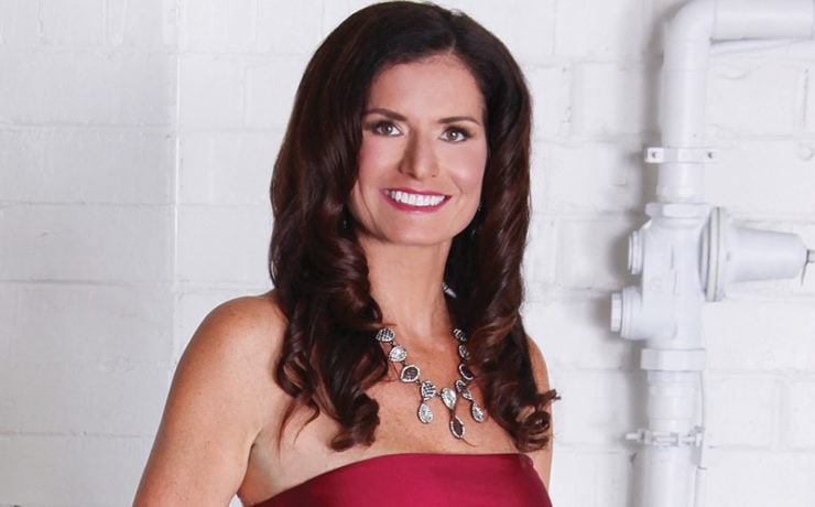 Kim Cooper in Red Dress Over 40 & Fab Winner