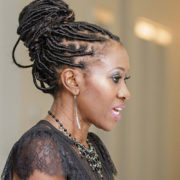 Beautiful Kwavi Agbeyegbe speaks at an event