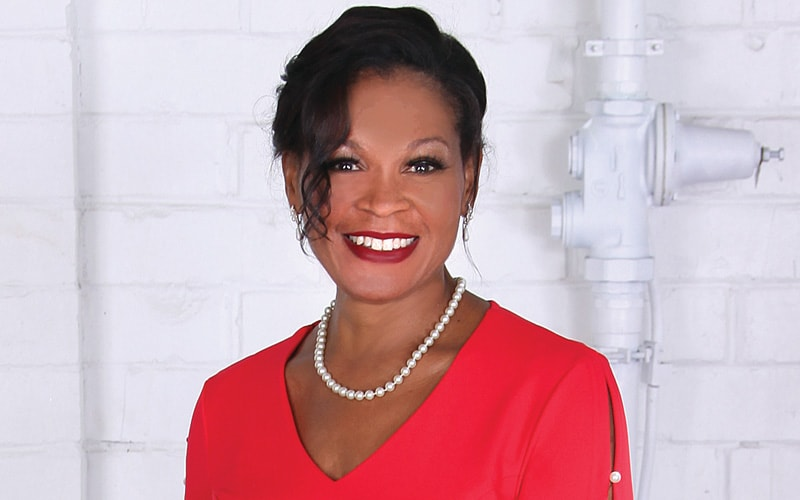 Lynn Bridges McCray poses at The Fairmont for the 2020 Over 40 & Fabulous photoshoot