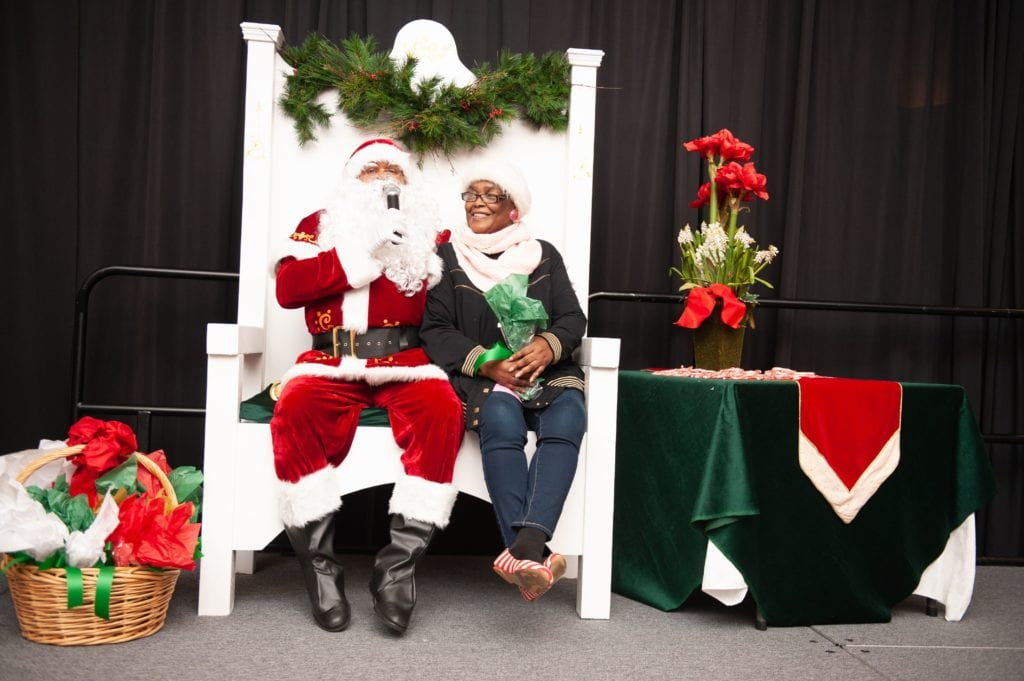 Beverly Foundation Santa with Patient
