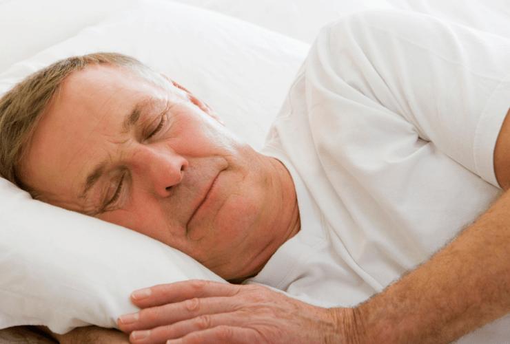 man sleeping soundly