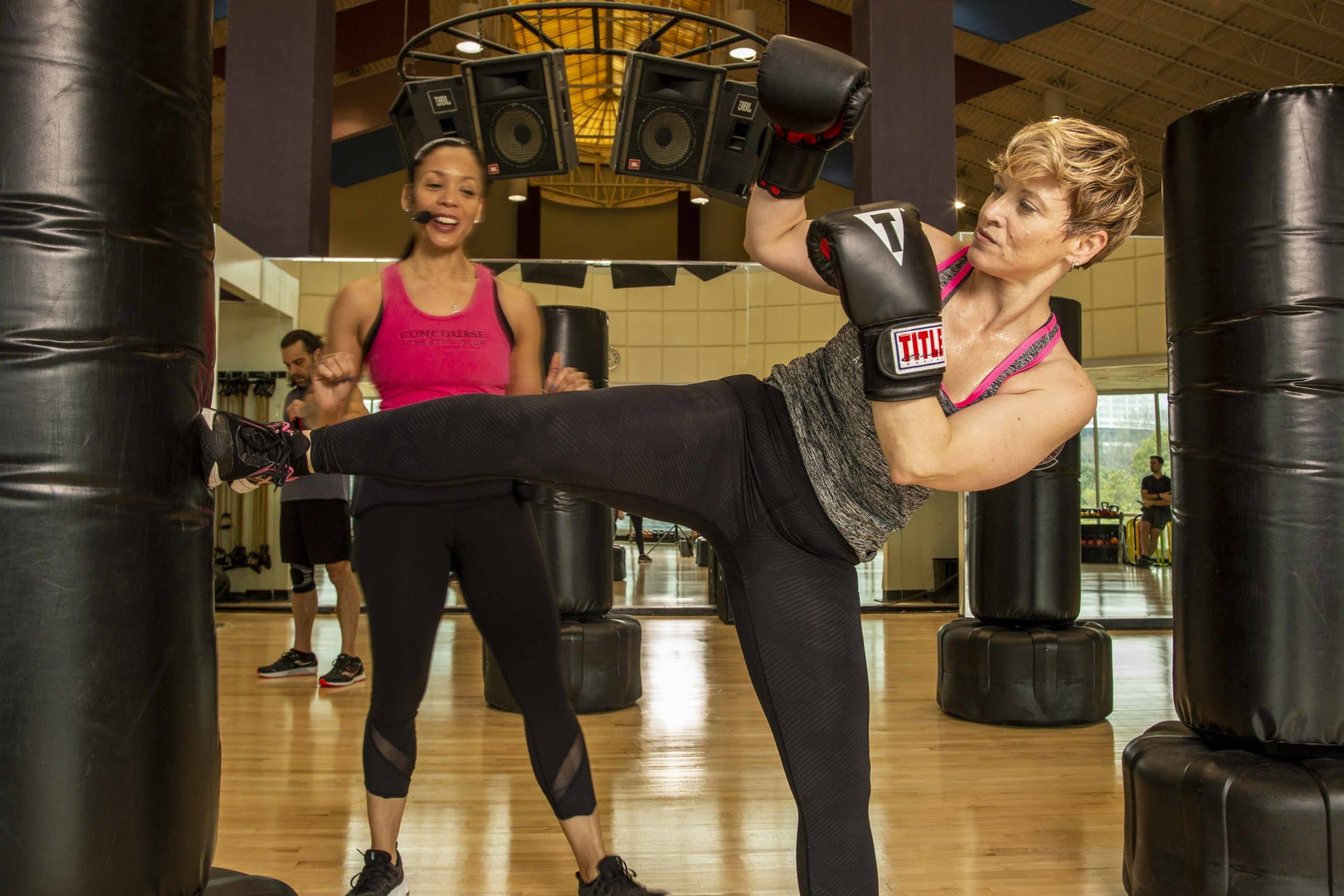 kickboxing class at Concourse