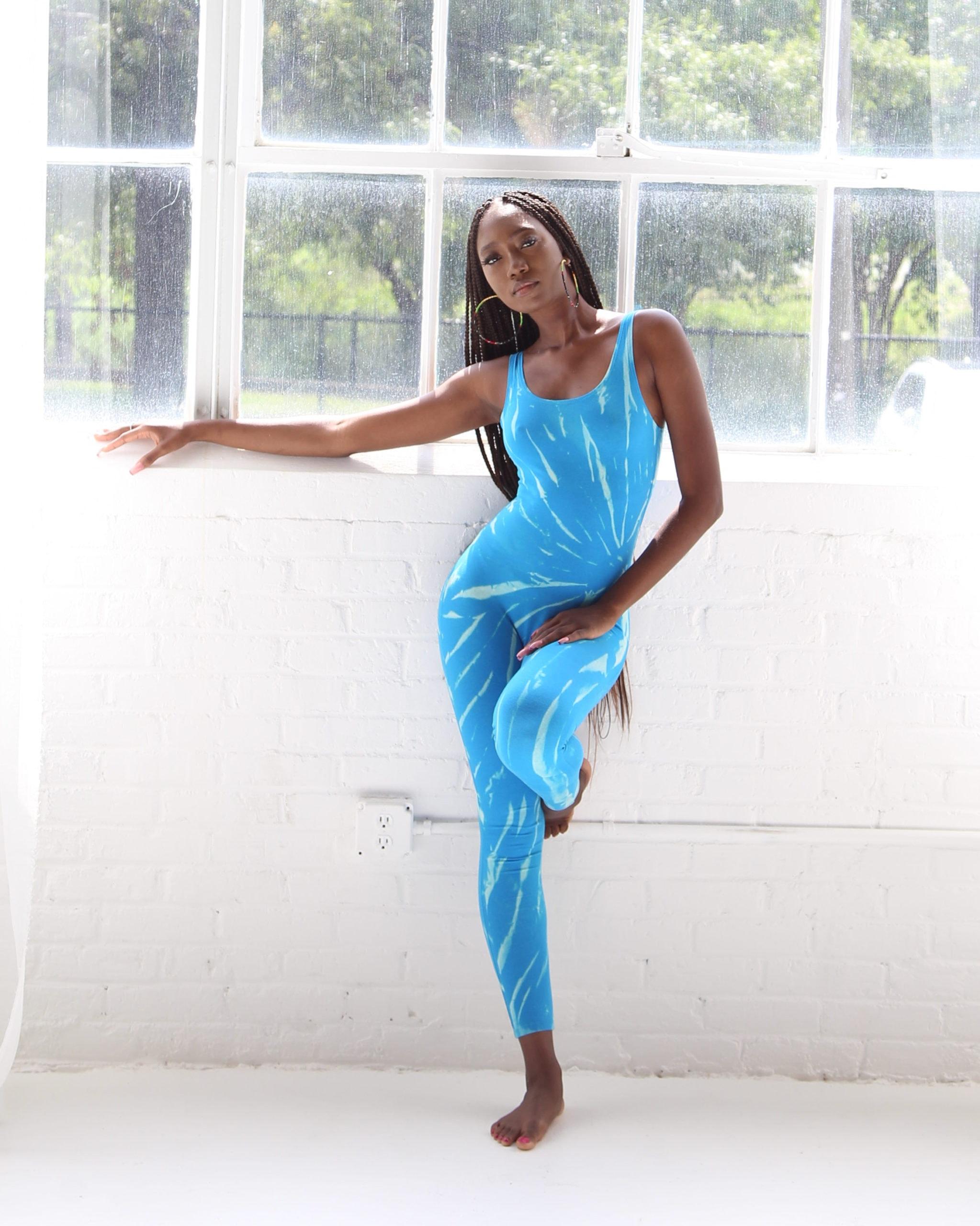 Thotsuit tie-dye jumper in blue