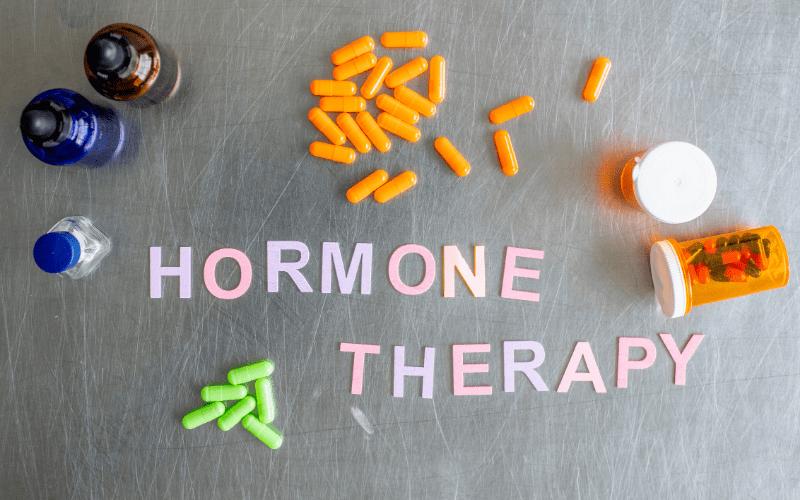 Hormone therapy stock image