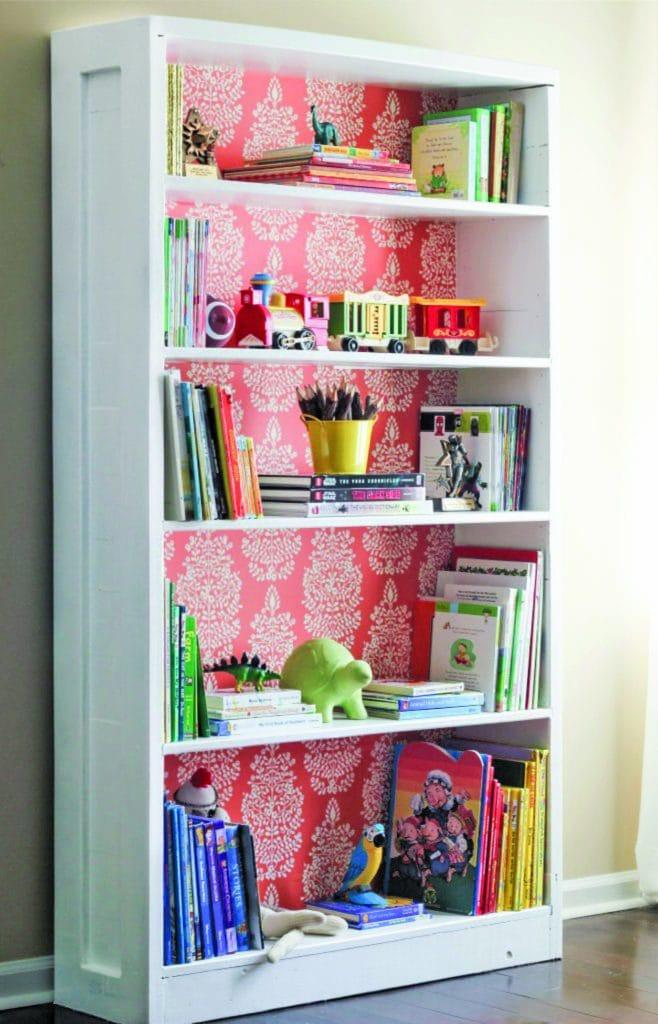 Erin Spain - Wallpaper bookshelf