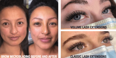 Before and after sweet & lashful
